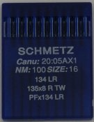 136100 Nål 134 LR Leather 100/16 10-pack SCHMETZ,135x8 R, PFx134 LR