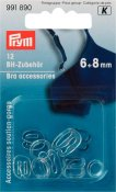 991890 PRYM - BH fäste 6 & 8 mm, 12 st genomskinliga  Bra accessories plastic 6+8 mm transparent assortment