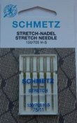 Nål+Stretch+75/11+5-pack+130/705+H-S+SCHMETZ