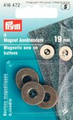 416 472 - PRYM - Magnetknappar 19mm ANTIK MÄSSING