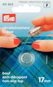 431863 PRYM - Fingerborg 17,0 mm SILVER Thimble zinc die-cast silver col 17.0 mm