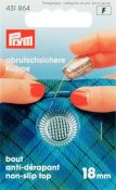 431864 PRYM - Fingerborg 18,0 mm SILVER Thimble zinc die-cast silver col 18.0 mm