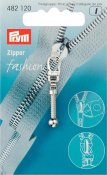 482120 PRYM - Dragkedjehänge Silver Club Fashion Zipper pullers Club metal silver col