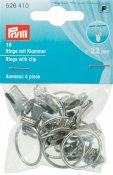 526 410 - PRYM - Ring med clips 22mm 10 st