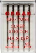 5440000 Nål Super Stretch HAx1 SP, 15x1 75-90 5-pack ORGAN NEEDLE