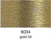 9844-6034 MADEIRA Heavy Metal 50% Polyester/50% Metalliserad Polycester. 6034 Gold 34, 200M