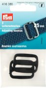 416385 PRYM - Juserspänne 25 mm SVART  Adjusting buckles plastic 25 mm black
