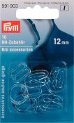 991903 PRYM - BH-tillbehör blandning 12 mm genomskinliga 10 st  Bra accessories plastic 12 mm transparent assortment