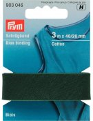 903046 PRYM - Snedremsa Bomull 40/20 mm GRÖN 3 M Bias Binding Cotton 40/20 mm fir green