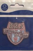 Laglapp. Girls University Team.  66 mm  * 60 mm