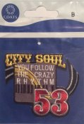 Musik,  City Soul. You Follow the Crazy Rythm, 53.    68 mm * 58 mm