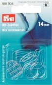 991908 PRYM - BH fäste 14 mm, 10 st Genomskinliga  Bra accessories plastic 14 mm transparent assortment