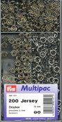 390127 PRYM - Nittryckknapp JERSEY mässing ring Silver 10 mm multipack 200 st  Non-sew press fasteners JERSEY brass pronged ring
