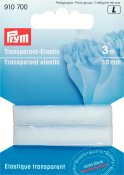 910 700 - PRYM - Transparent resårband 10mm, 3M