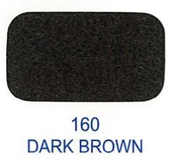 20525-160 Kardborreband 20mm/0,5 M sys fast hook & loop Lovetex DARK BROWN