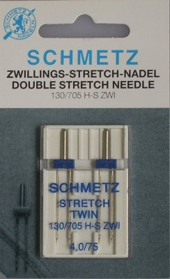 +Tvillingnål+Stretch+4,0mm/75+2-pack+BLÅ+SCHMETZ