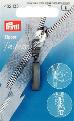 482133 PRYM - Dragkedjehänge Classic Svart Fashion Zipper pullers Loop metal black oxidized