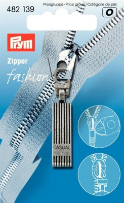 482139 PRYM - Dragkedjehänge Silver Casual Fashion Zipper pullers Casual metal antique silver