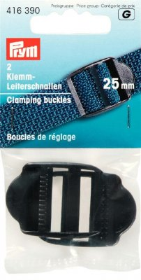 416 390 - PRYM - Juserspänne 25 mm SVART Adjusting buckles plastic 25 mm black
