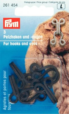 Prym Krokar och Öglor till Pälsar, Brun  Fur hooks and Eyes Brown