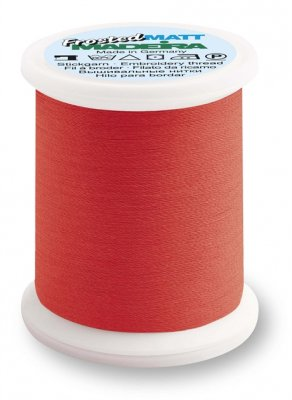 9848-7908 MADEIRA Frosted Matt No.40 Neon Red 500M