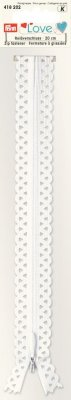 418202 PRYM - Love dragkjedja 20 cm  Vit  Prym Love Zip S11 decor. 20cm white