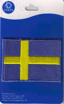 Flagga Svensk 78 *58 mm. Coats.