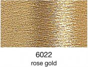 9844-6022 MADEIRA Heavy Metal 50% Polyester/50% Metalliserad Polycester. 6022 Rose Gold, 200M