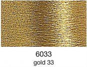 9844-6033 MADEIRA Heavy Metal 50% Polyester/50% Metalliserad Polycester. 6037 Gold 33, 200M