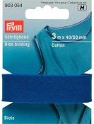 903054 PRYM - Snedremsa Bomull 40/20 mm BLÅ 3M Bias Binding Cotton 40/20 mm blue