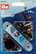 403102 PRYM - Jeans nitar 9 mm Antik, Koppar och oxierad Svart 24 st  Rivets brass antique copper/black oxidized 9 mm  24st 9mm